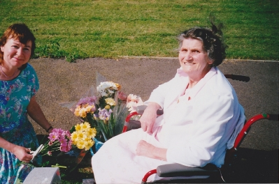 Visiting Mum today with flowers after her operation
