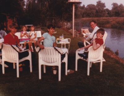 Daniel with his friends in August 1985