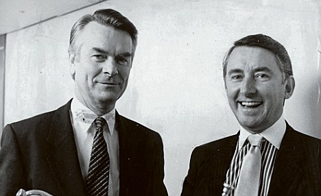 Dr David Owen and David Steel in better times