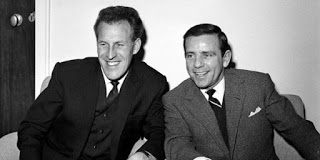 Norman Wisdom and Bruce Forsyth at the London Palladium