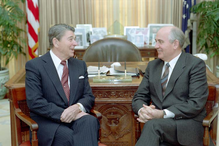 Reagan and Gorbachev were this month's heroes with their Nuclear Arms Reduction Agreement