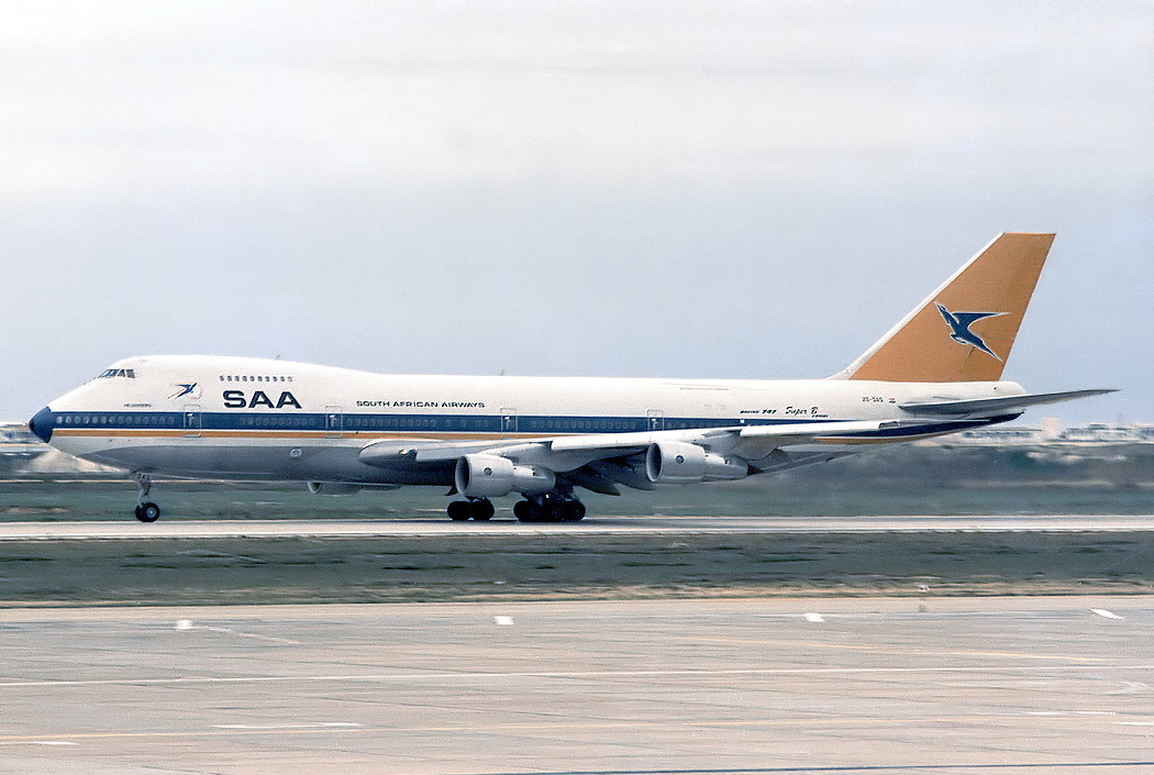 South African Airways Boeing 747-200BM which crashed this day as Flight 295