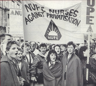 A mounting conflict today between Mrs Thatcher and the medical profession over Health Service funding