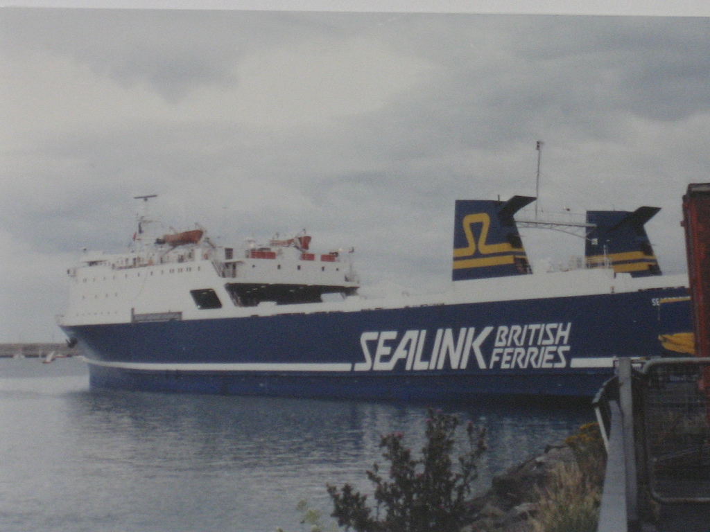 A Sea-link freight ferry in 1988