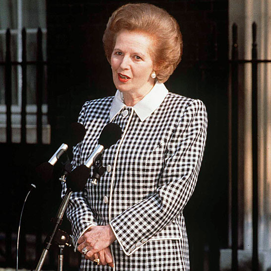 Margaret Thatcher defiant in 1989