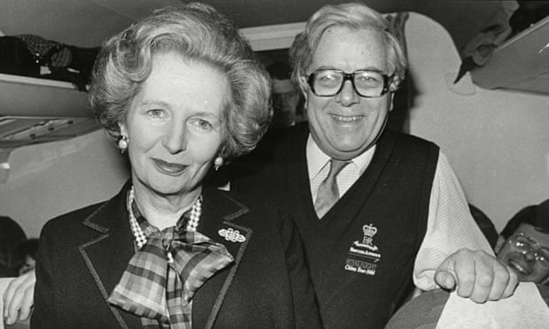 Margaret Thatcher with foreign secretary Geoffrey Howe during a trip to Moscow in 1987
