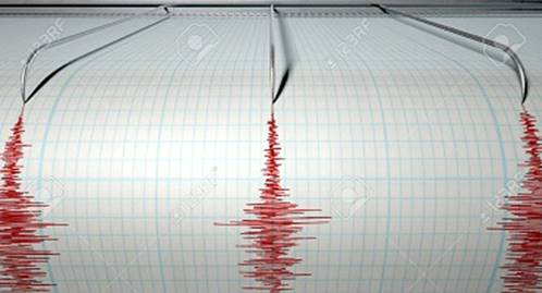 Earthquake at Clun (SO3080) in Shropshire at a depth of 14 kilometres, measuring 5.2 on the Richter scale
