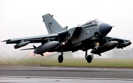 Two RAF jet fighters collide in mid-air over Northumberland with a Tornado crashing and injuring its two pilots