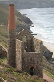 Old Cornish Tin Mine landscape