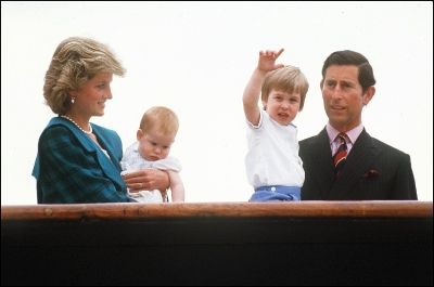 Charles in the news and Diana for giggling at his ill-fitting safety hat