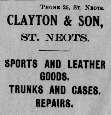 The old Family St Neots store of Clayton's which we loved