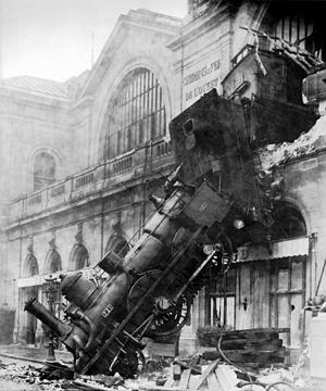 French Train Wreck at Montparnasse in 1895