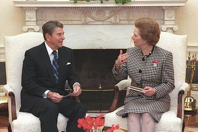 Thatcher and Reagan both on the defensive and fighting off allegations