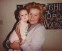 Della with Grandma Norma - late 1984