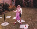 Debbie and Della in garden