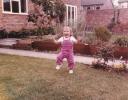 Della running in Hayling View garden