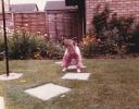 Della in garden 1985