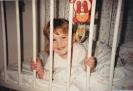 Della in her cot 1986