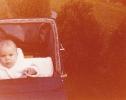Baby Debbie in her pram 1980