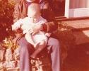Baby Debbie in the Gordon Road front garden 1980ish