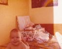 Baby Debbie in her bedroom 1980