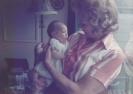 baby Debbie with her grandma Norma Jackson Summer 1979