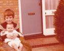 Debbie with Daniel in Gordon Road front garden 1980