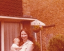 Debbie with Diana at 2 months, July 1979