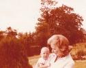 Debbie in the garden with Grandma Norma Jackson Summer 1979