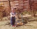 Debbie in the garden, 1980