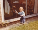 Debbie walking at Gordon Road 1980