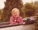 Debbie in her pram 1980