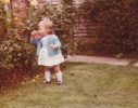 Debbie smelling the Gordon Road roses 1980