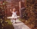 Debbie running down Gordon Road path 1980