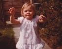 Debbie running in close up 1980