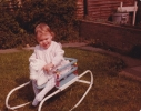 Debbie in a rocking chair, 1980