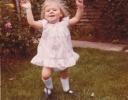 Della running in the garden 1980