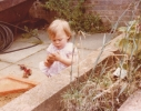 Debbie playing in the sandpit 1980