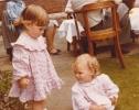 Debbie at Auntie Sue's wedding reception, 1980