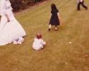 Debbie at Auntie Susan's wedding 1980