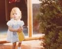 Debbie with a sponge 1980