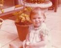Debbie by the flower pots, 1980