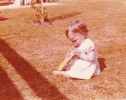 Debbie playing with a box, 1980