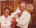 Garce and Fred with Debbie in 1979 - only grandad could stop her crying!