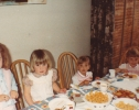 Debbie's party guests - May 1982