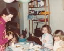 Friend helping Debbie's party - May 1982