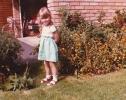 Debbie by Willow Close garage - 1982