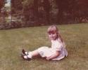 Debbie enjoying 6 Willow Close river view - 1982