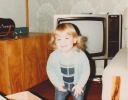 Debbie in the playroom Christmas 1981