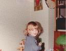 Debbie in the playroom, 1981